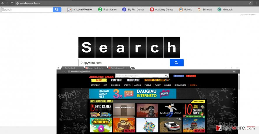 The screenshot of search.we-cmf.com