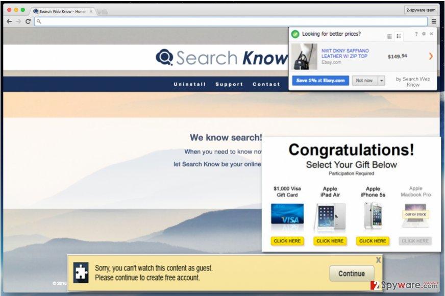 Search Web Know adware