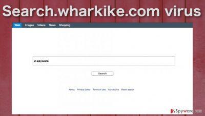 Image of the Search.wharkike.com hijacker virus