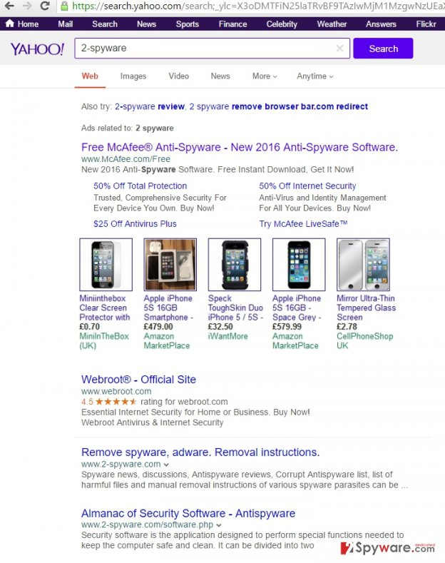 Search Window Results virus example