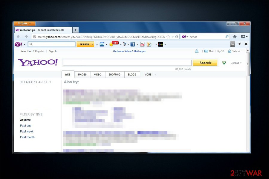 Yahoo Search virus picture