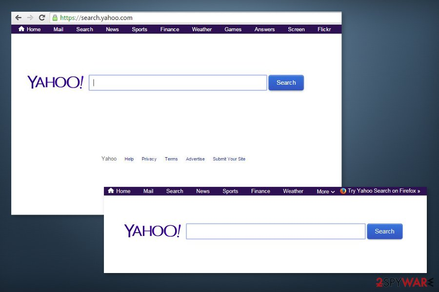 Picture of search.yahoo.com redirect