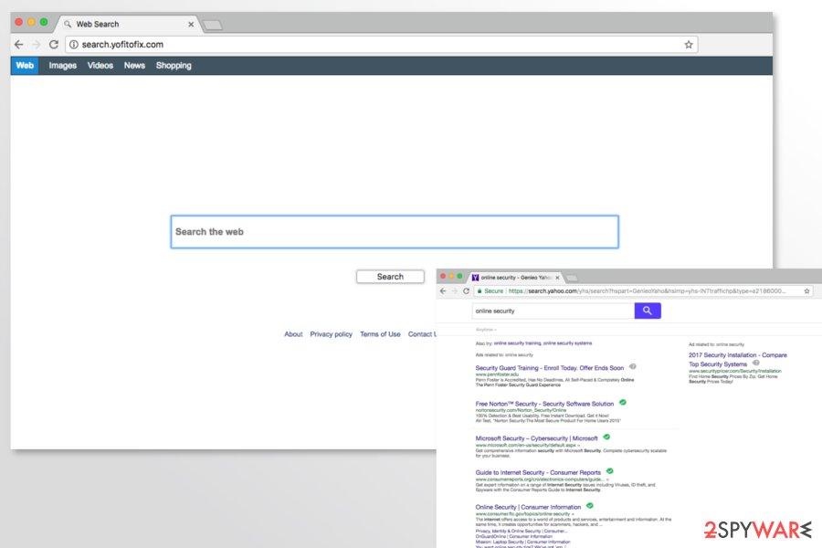 Screenshot of Search.yofitofix.com