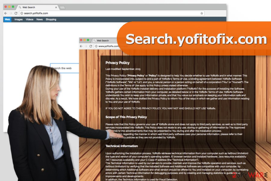 The picture of Search.yofitofix.com virus
