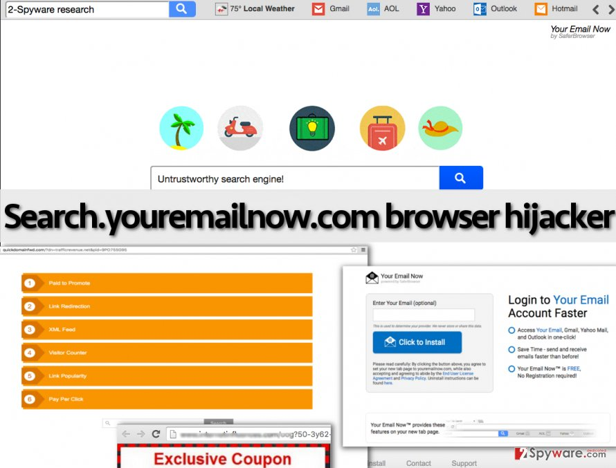 Search.youremailnow.com redirect virus