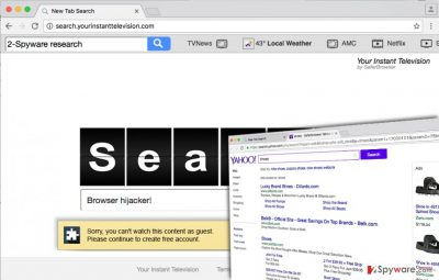 Spyware-type infection - Search.yourinstanttelevision.com browser hijacker