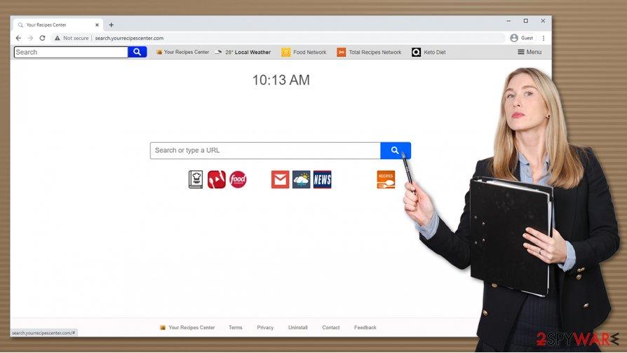 Search.yourrecipescenter.com virus