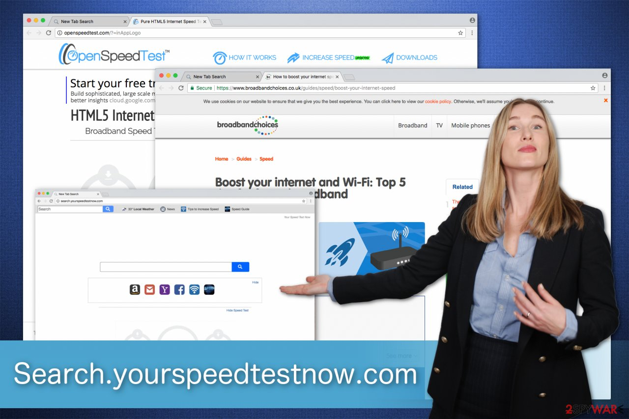 the screenshot of Search.yourspeedtestnow.com virus