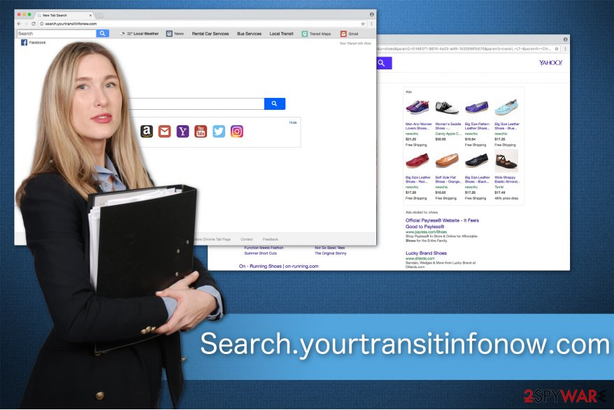 The image of Search.yourtransitinfonow.com fake search engine
