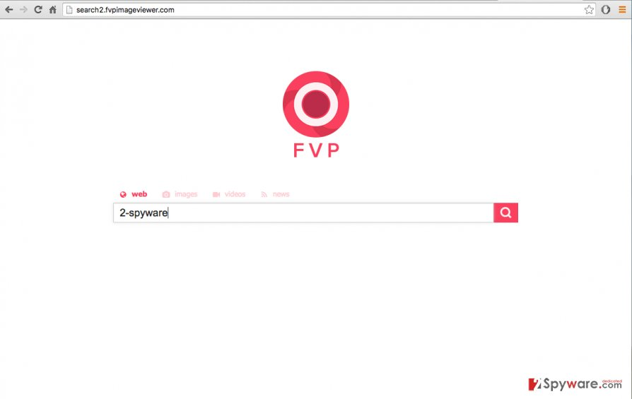 An image of search2.fvpimageviewer.com browser hijacker