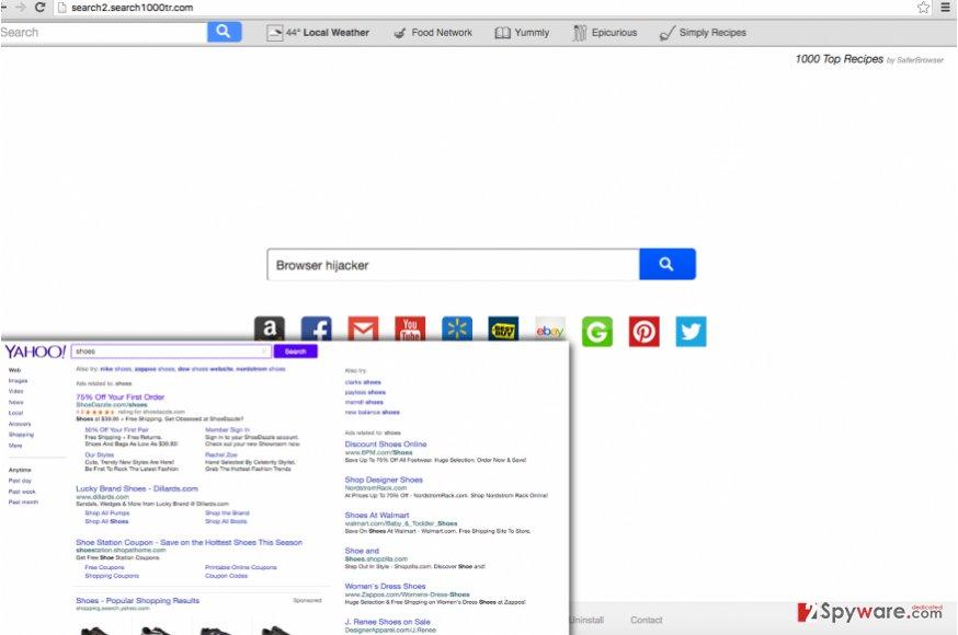 Search2.search1000tr.com browser hijacker provides questionable web search service
