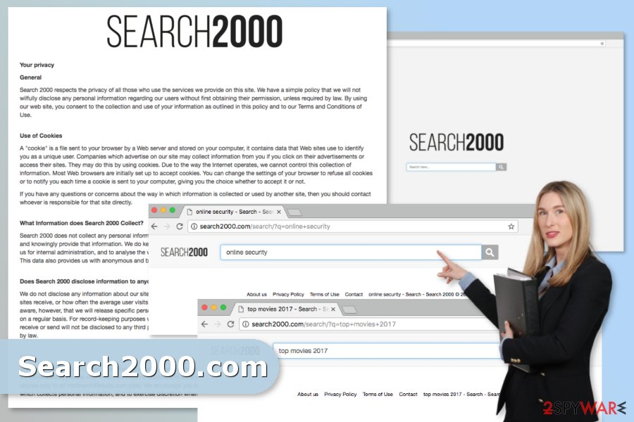 The picture of Search2000.com virus