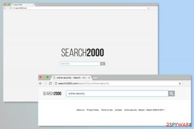 Screenshot of Search2000.com search engine