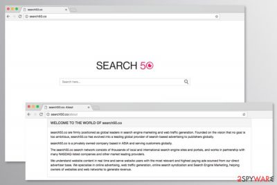 Screenshot of Search50.co