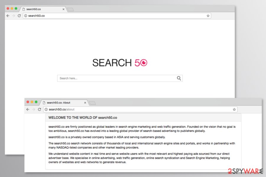 Screenshot of Search50.co