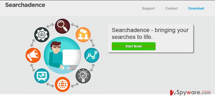 SearchAdence adware snapshot