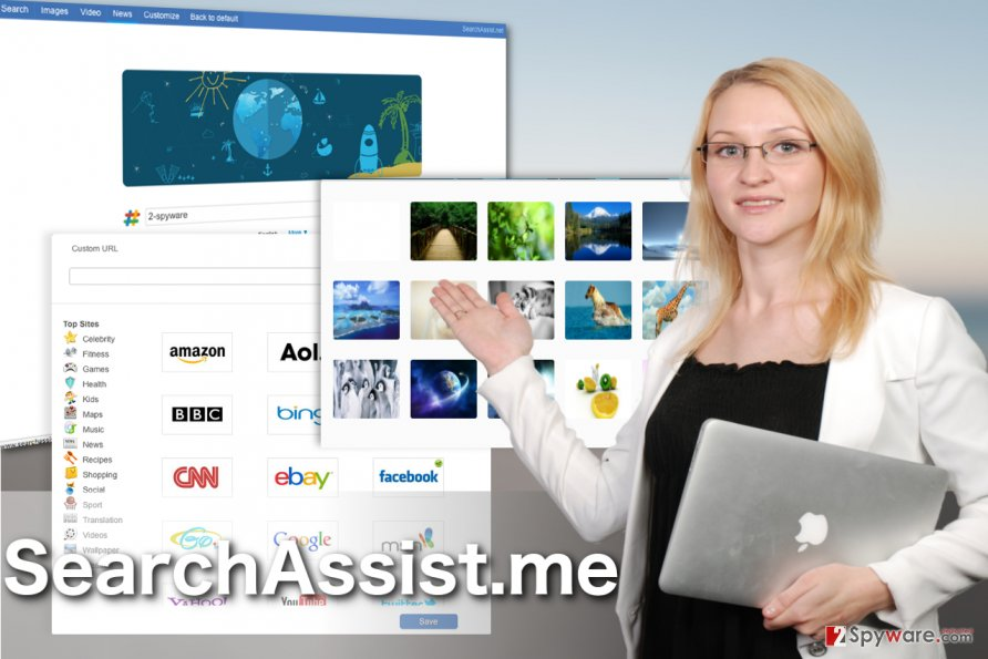 Image of the SearchAssist.me virus