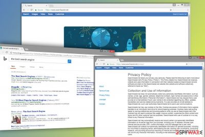 The picture of SearchAssist.net browser hijacker