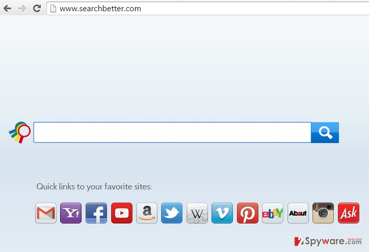 SearchBetter.com hijack snapshot