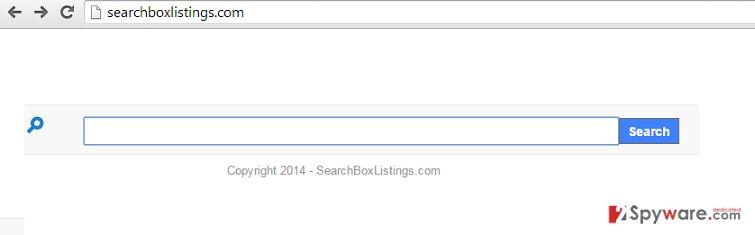 Searchboxlistings.com pop-up ads snapshot