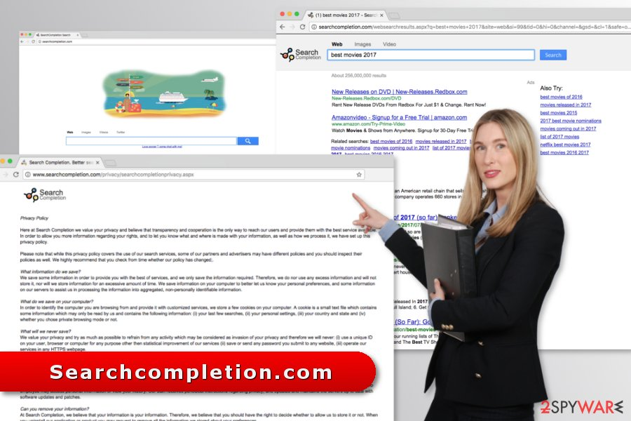 Illustration of Searchcompletion.com virus