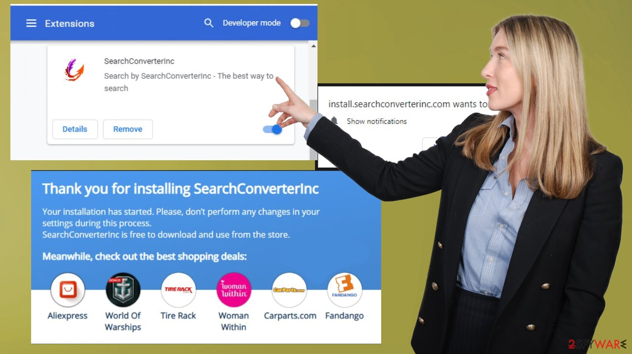 SearchConverterInc browser hiajcker