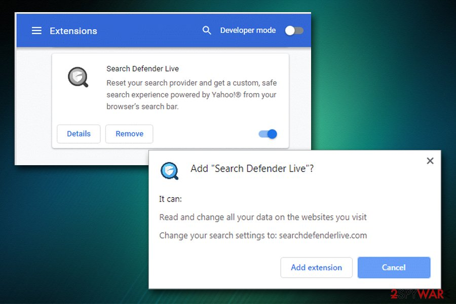 Search Defender Live extension