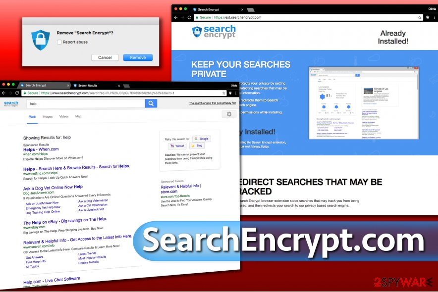 Searchencrypt.com redirect issue