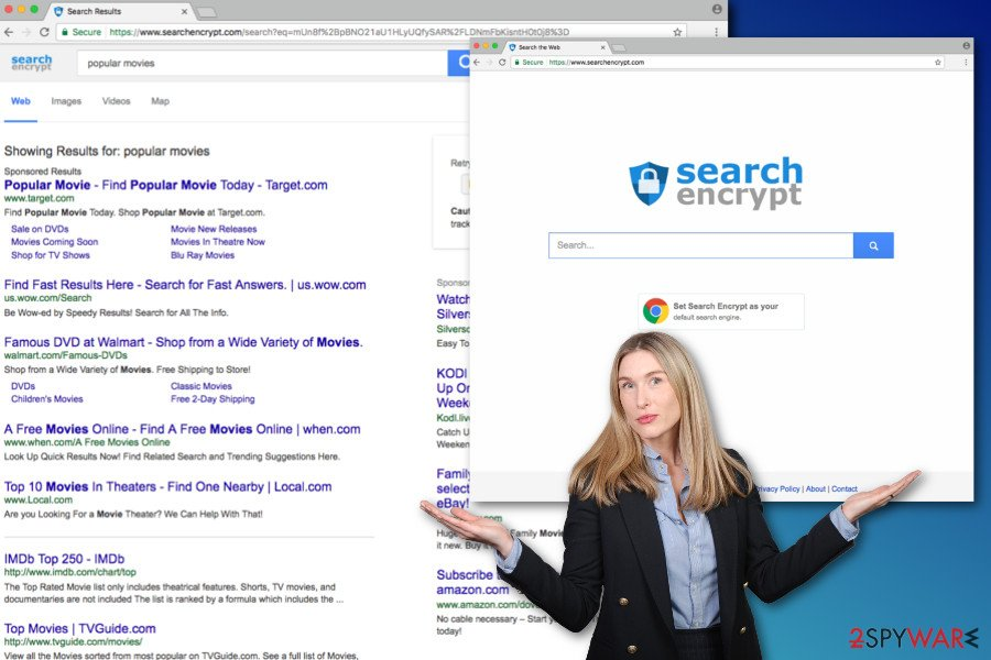The image of Searchencrypt.com virus