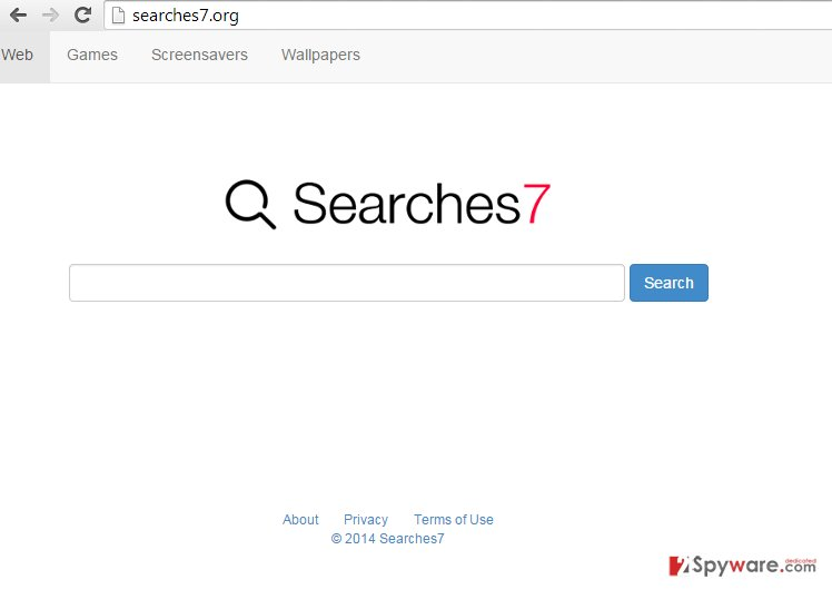 Searches7 redirect snapshot