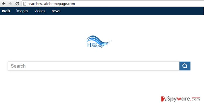 Searches.safehomepage.com redirect virus