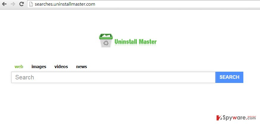 Searches.UninstallMaster.com virus snapshot