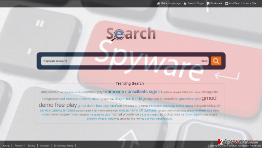 Searchfar.net redirects can occur if you are using this search engine