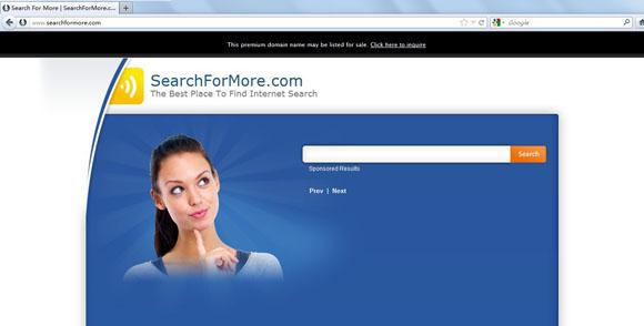 Searchformore.com redirect virus