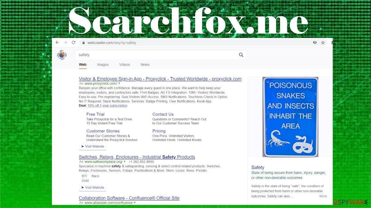 Searchfox.me ads