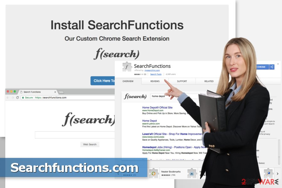 The picture of Searchfunctions.com browser hijacker