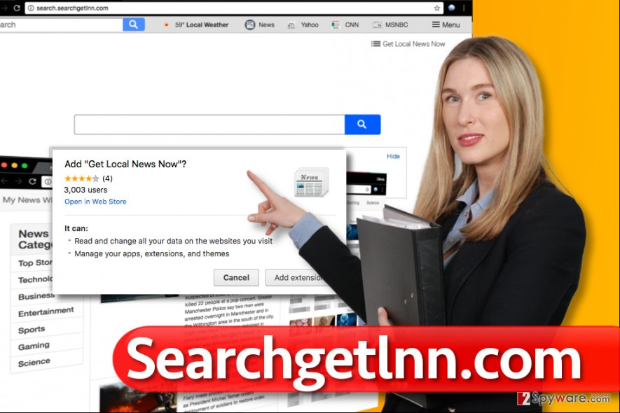Searchgetlnn.com redirect virus