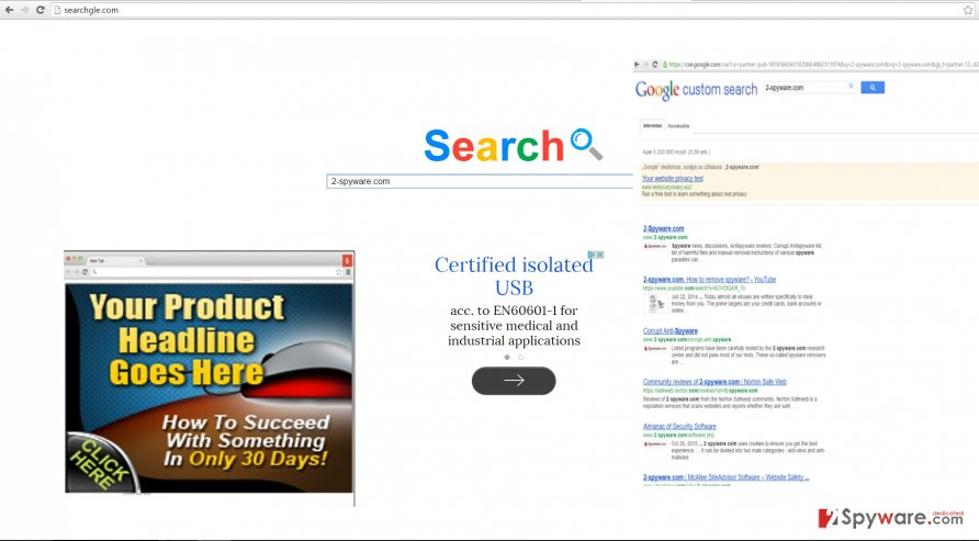 The picture showing searchgle.com