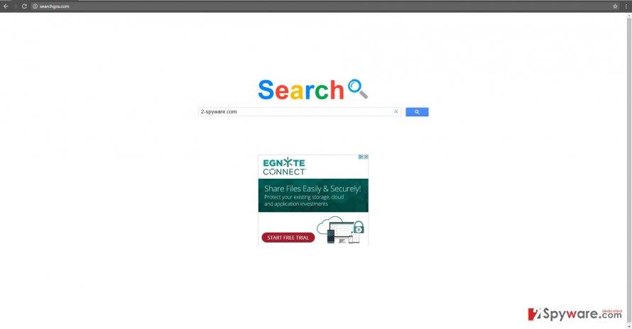 The image of searchgra.com virus