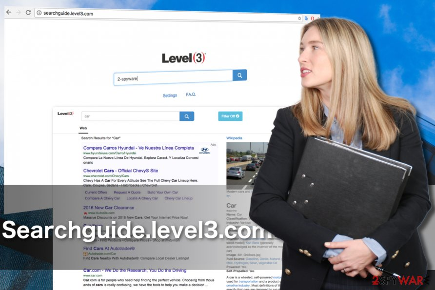 An image of Searchguide.level3.com hijacker virus