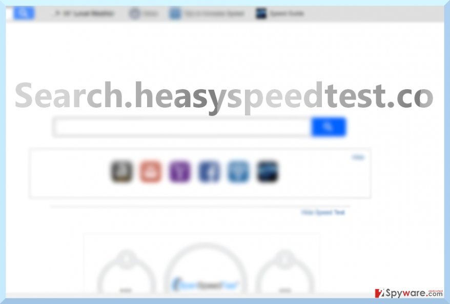 The picture illustrating Search.heasyspeedtest.co