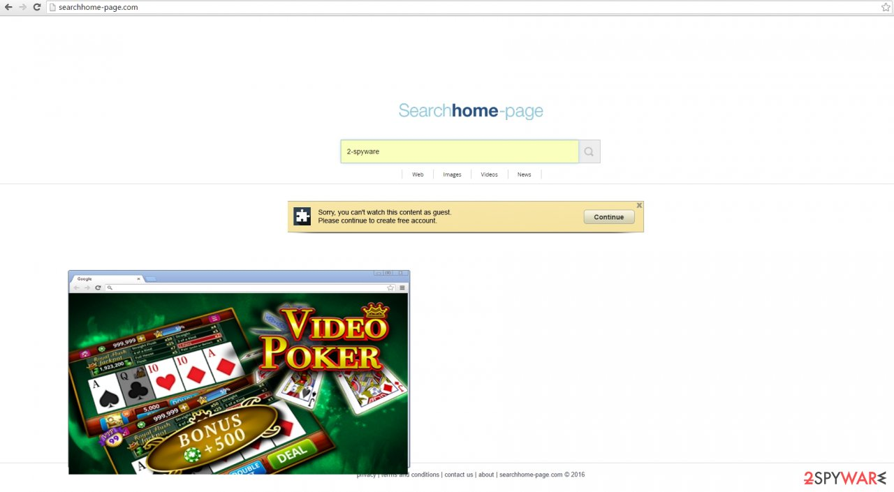 The picture revealing searchhome-page.com