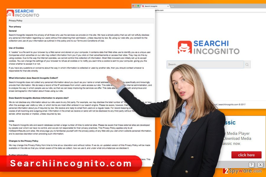 The illustration of Searchiincognito.com virus