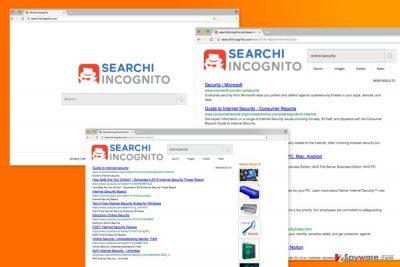 The image of Searchiincognito.com virus