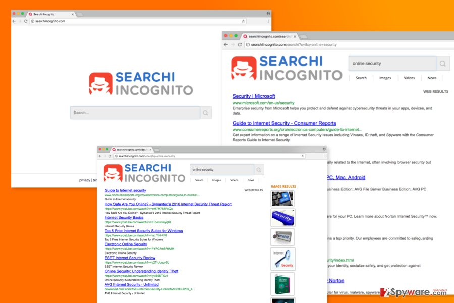 The image of Searchiincognito.com virus