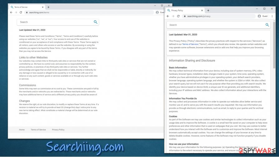 Searchiing.com Policy