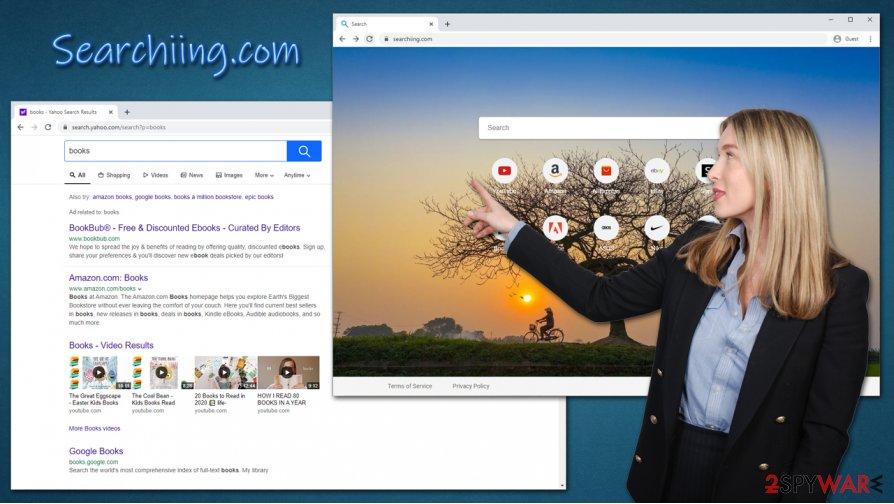 Searchiing.com browser hijacker