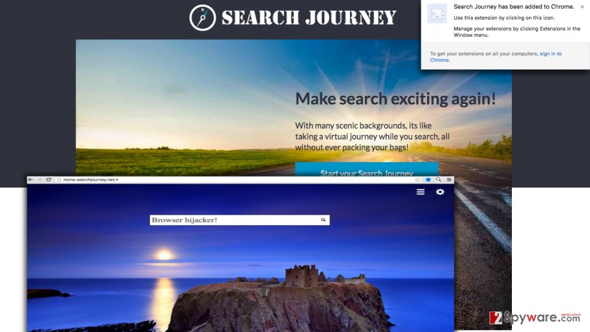 Searchjourney.net redirect virus