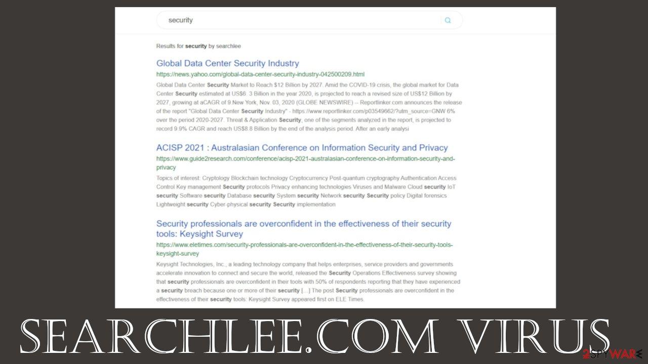 Searchlee.com virus