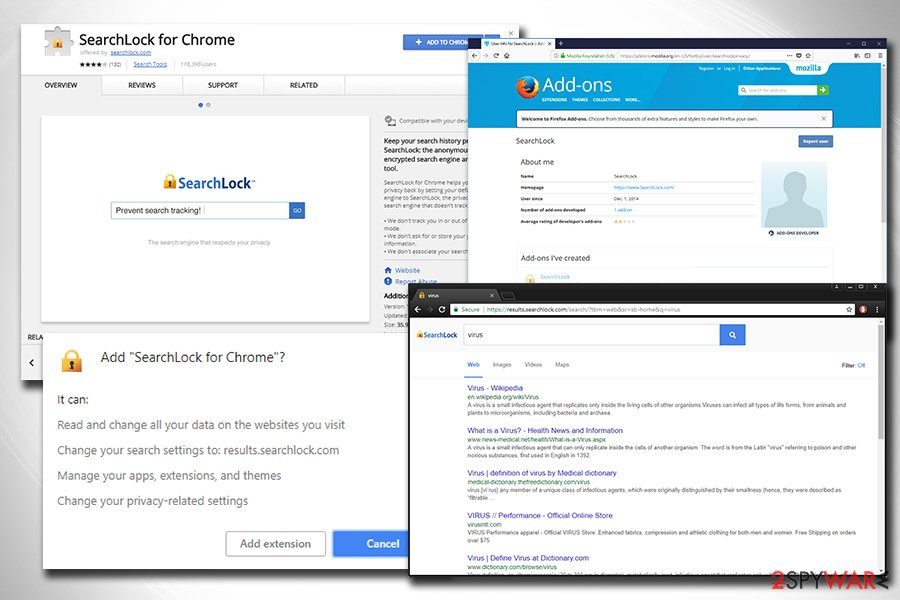 SearchLock browser hijacker